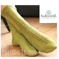 A summery sweet green sock knitting pattern...