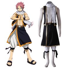 Fairy Tail Natsu Dragneel 1ST Cosplay Costumes