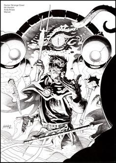 Doctor Strange: Last Days of Magic #1 Cover : Ink Version |  Variant cover for Marvel: Andy Brase:  www.facebook.com/AndyBraseArt/