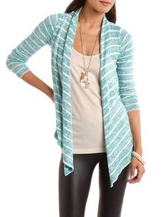 Striped Open-Front Cardigan: Charlotte Russe