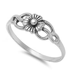 CloseoutWarehouse Sterling Silver Twin Designer Ring