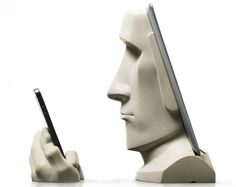 Moai iPad/iPhone docking station: http://www.homecrux.com/2015/06/18/29591/moai-ipadiphone-docking-station-resembles-monolithic-icons-of-easter-island.html