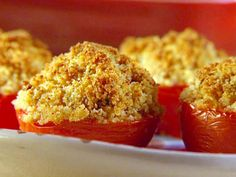 Stuffed Tomatoes Recipe, FoodNetwork.com. When I scoop the insides if the tomatoes, I put that in the skillet and cook it on low until mushy, with the other ingredients.