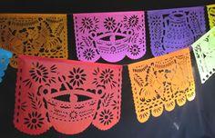 Mexico tipico papel picado banner - Economy 10 pack $75 18 feet each