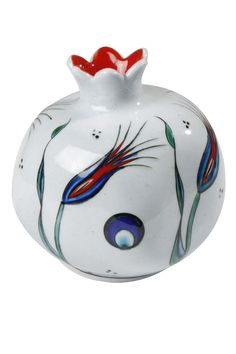 Dekoratif Nar Ceramic Cups, Ceramic Pottery, Ceramic Art, Turkish Design, Turkish Art, Decorative Tile, Decorative Items, Pomegranate Art, Grenade