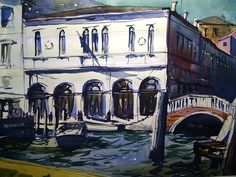 Grand Canal Venice form a vaporetto water bus by Tim Wilmot