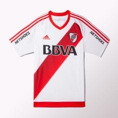 adidas - Camiseta de Fútbol Titular River Plate 2016 Argentina League 8ab4d8cd65717