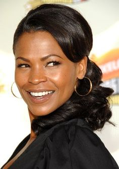 Beautiful - Nia Long --- This is a cute for a wedding hairstyle