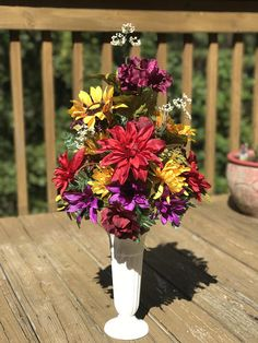 Your place to buy and sell all things handmade Grave Flowers, Cemetery Flowers, Funeral Flowers, Cemetery Vases, Cemetery Decorations, Table Decorations, Artificial Flower Arrangements, Vase Arrangements, Artificial Flowers