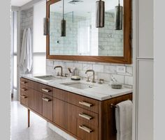 Mid Century Bathroom brittanyMakes Bathrooms Pinterest Mid