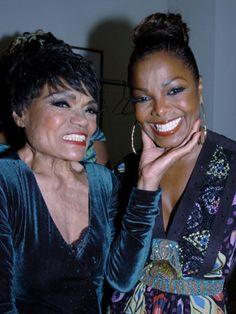 Eartha Kitt and Janet Jackson