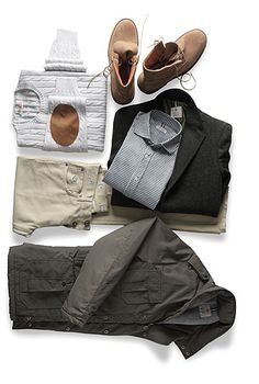 The handsome man's casual essentials.
