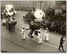 Felix the Cat (first giant balloon) Macy's Thanksgiving Day Parade, via MTV Geek