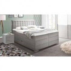 Boxspringbett Viviana 200x200 Cm Taupe Meisemeise Decorationsforbedroom Decorationsforbedrooms Decorsalonmaison Decorforbe In 2020 Box Spring Bed Bed Springs Bed