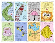 "free printable valentine greetings reminding me of an Australian friend and her daily ""cuppa"""