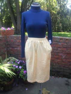 Vintage Cozy High Waisted Fleece Skirt In Light by PDeeVintage, $7.65