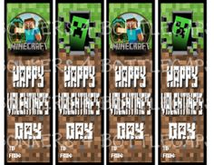 Sometimes the way to a kid's heart is through several blocks of pixelated stone. Blast your way in with these 5 sets of free printable Minecraft Valentines.