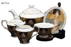 "Gustav Klimt Tee- Kaffeeservice 15teilig Porzellan Motiv ""Judith"" Gustav Klimt, Sugar Bowl, Bowl Set, Collection, Atelier, China China, Milk Churn, Teapot, Kaffee"