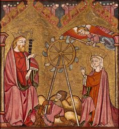 Northern Spanish  Saint Catherine Delivered from the Wheel, 1375/1400  Oil and tempera on panel 14 1/8 x 13 in. (35.8 x 33 cm)