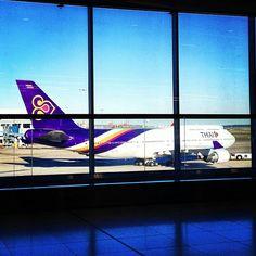Thai Airways B747-400, Sydney airport @leannelimafox
