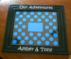 Personalized Poker Chip Display Frame customized by CarvedByHeart