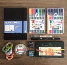 The beginning: Bullet Journal starter kit (Tap on the picture to see the… Bullet Journal Starter Kit, Bullet Journal Junkies, Bullet Journal Inspiration, Journal Ideas, Journal Prompts, Bullet Journals, Study Journal, Journal Layout, Bujo