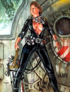 """bulletride-actionwear: """" 80s sci fi art by Dave Dorman """""""