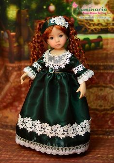 """SOLD - """"Holiday Dinner"""" Regency Dress,Outfit,Clothes for 13""""Effner Little Darling #ClothingAccessories"""
