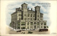 Divided Back Postcard Fidelity Trust Company Building Kansas City, MO Kansas City Downtown, Kansas City Missouri, Trust Company, Central Business District, Vintage Postcards, In This Moment, History, Building, Travel
