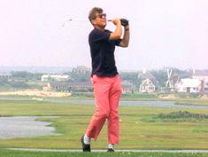 John Kennedy, Salmon Pants, Long Pictures, Jfk Jr, John Fitzgerald, Golf Attire, Golf Fashion, Play Golf, Golf Tips