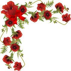 esquineros vectores de flores - Buscar con Google