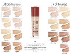 Rimmel London Lasting Finish 25H Foundation With Comfort Serum SPF 20 (Shade: Light Porcelain) $8 : (Shade Comparisons) Instant perfect coverage that feels extra comfortable and lasts all day - Blends flawlessly, seamlessly, instantly and easily into the skin - Sweat, heat, humidity and transfer proof for up to 25 hours.