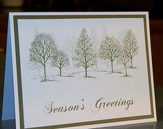 Handmade Christmas Card Stampin Up WINTER POST by WhimsyArtCards