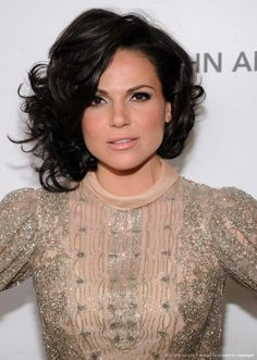Lana Parrilla. Regina from Once upon a Time. I love her hair