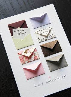 Mother's Day Card Music Notes and Cherry Blossoms – Tiny Envelopes Card Mother's Day Card: Music Notes and Cherry ~ by LemonDropPapers on etsy. Think about paper projects with a selection of several/many tiny envelopes Diy Crafts For Gifts, Paper Crafts, Magic Crafts, Tarjetas Diy, Handmade Birthday Cards, Diy Birthday Gifts For Mom, Creative Birthday Cards, Birthday Box, Daddy Birthday