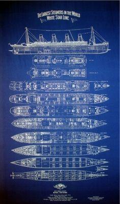 blueprint of the titanic