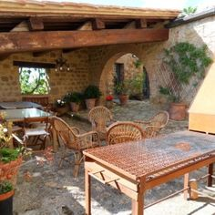 Outdoor dining area Tuscany