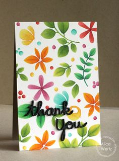 Thank You card by Alice Wertz for Paper Smooches - Thank You die, Reflections