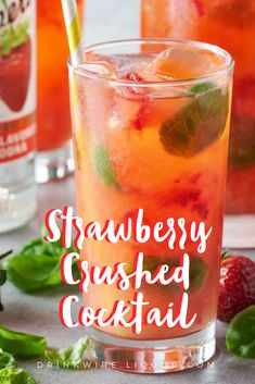 This decadent #strawberry #cocktail is quick and easy to make, but sure packs a #vodka #punch.