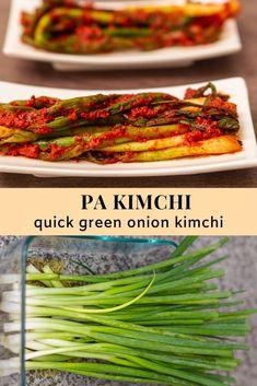 Pa Kimchi (Green Onion Kimchi) Onion Recipes, Beer Recipes, Clean Recipes, Healthy Recipes, Homebrew Recipes, Healthy Food, South Korean Food, Korean Street Food, Korean Side Dishes