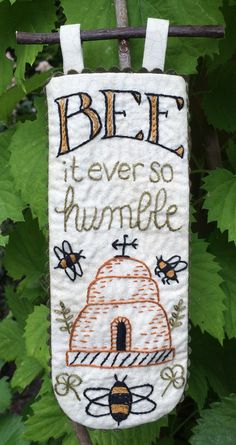 Bee Embroidery, Hand Embroidery Patterns, Cross Stitch Embroidery, Anni Downs, Bee Creative, Bee Skep, Bee Tattoo, Bee Crafts, Bee Art
