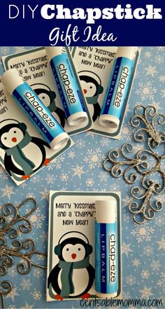 If you're looking for a cute and easy gift idea for a co-worker, teacher, stocking stuffer, and more, you can print out these printable tags on cardstock, attach a tube of any lip balm to create a Chapstick Gift.