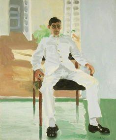 Patrick Procktor (British, 1936-2003), Corporal Robert James Ransome, 1 Royal Anglian, Belize, 1983. Oil on canvas, 61 x 51 cm