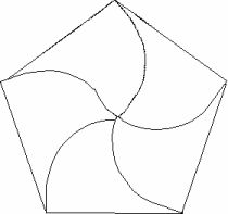 Pentagon Petal Card Template-lots of other shaped boxes on site