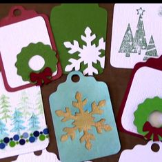 Brother Scan n Cut Christmas Tag Tutorial                              … …