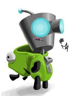 GIR #Nickelodeon #Robot #Gir #invaderzim #irkenrobot #irk #edmonton #edmontonartist #edmontonillustrator #chrismoet #moet