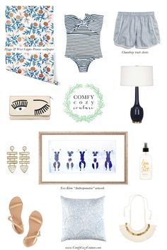 Comfy Cozy Couture: Wednesday Wish List | Summer Inspired Fashion + Home Decor | Hygge & West Wallpaper