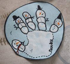 Empreinte de main bonhomme de neige {DIY} - Payette Family