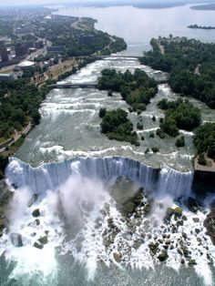 Aerial shot of Niagara Falls. You can see this and more aboard Niagara Helicopters!