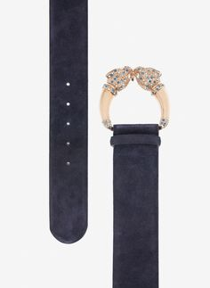 Uterqüe Spain - Canary Islands Product Page - Accessories - View all - Leather belt with jaguar buckle - 69